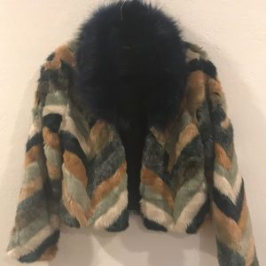 New!Fur jacket